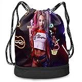 Harley Quinn Mode Léger Multifonctionnel Bundle Sac À Dos Sacs À Bandoulière en Plein Air Sac À Cordon pour Hommes/Femmes