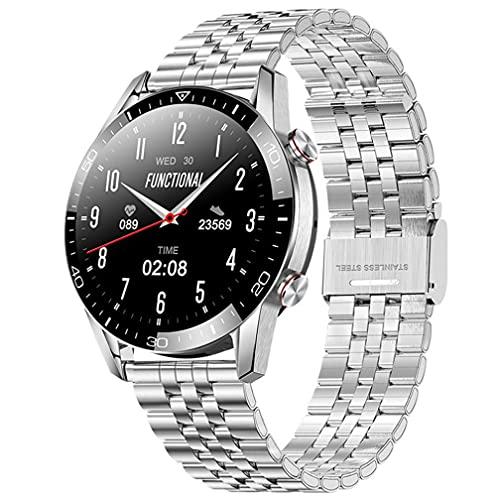 Reloj inteligente deportivo de moda, Bluetooth llamada IP68, impermeable, ritmo cardíaco, presión arterial, reloj inteligente, rastreador de fitness, Android, iOS, acero zhu