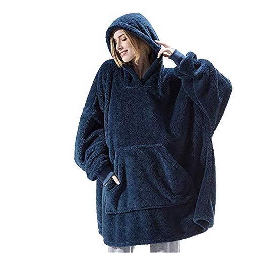 51kj1T2+ANL. SS500  - Hoodie Sweatshirt Blanket - Oversized Super Soft Warm Comfortable Giant Sherpa Hoodie, One Size Fits All Men Women Girls…
