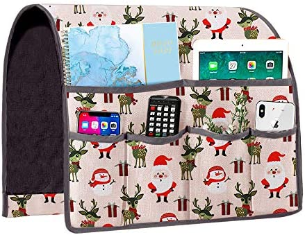 Joywell Christmas Sofa Armrest Organizer Couch Arm Chair Caddy Kids Gift with 6 Pockets for product image