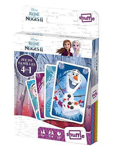 Shuffle Familles - Juego de Cartas 4 en 1, diseño de Frozen de Elsa, Anna, Olaf, Sven, Kristoff y Mattias, 108518994101