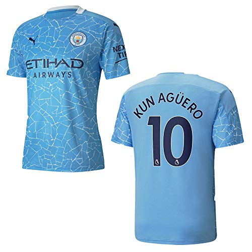 Manchester City Trikot Home Herren 2021, Größe:XL, Spielerflock (zzgl. 20.00EUR):10 Kun Aguero