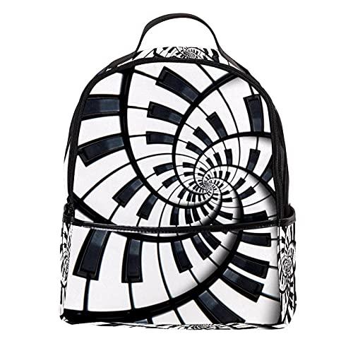 ATOMO Casual Mini mochila Piano Key Abstracto PU Cuero Viaje Bolsas de compras Daypacks