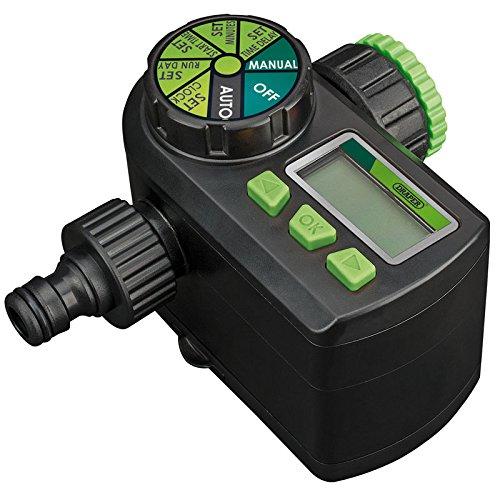 DRAPER 36750–Elektronischer Kugelhahn Wasser Timer–schwarz