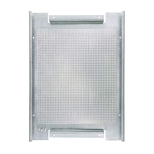 ORSEM Lochblech Montageplatte mit Erdungsanschluss 400x300x19mm Verzinktem Stahl Lochrückwand für Montageschränke