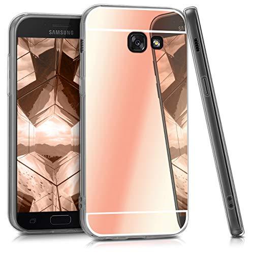 kwmobile Hülle kompatibel mit Samsung Galaxy A5 (2017) - Handyhülle - Handy Case in Rosegold spiegelnd