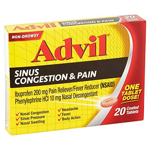 Price comparison product image Advil Sinus Cong & Pain 2 Size 20ct Advil Sinus Congestion & Pain 20ct