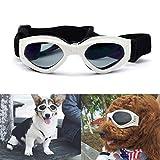Pet Leso® Dog Goggles Stylish Doggie Puppy Sunglasses Windproof Protection Doggles - White