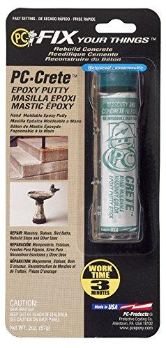 Protective Coating Products PC-Crete Epoxy Putty, 2oz Tube, Concrete Gray (25581)