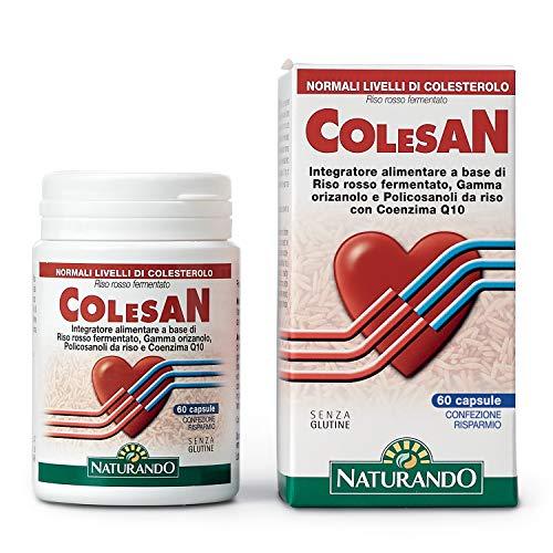 NATURANDO COLESAN 60 CAPSULE Favorisce il controllo del colesterolo con riso rosso fermentato
