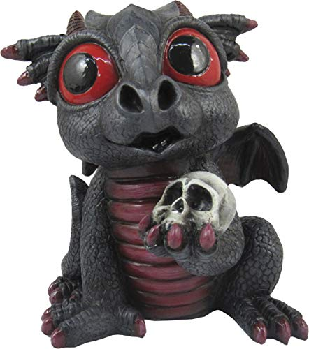 World of Wonders Grave Yard Series Dreamland Dragons | Collectible Dragon Figurine with Birth Certificate | Fantasy Home Decor Accent | 6inch Dragon Statue - Sapphire