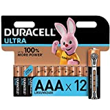 Duracell Ultra AAA Alkaline Batteries [Pack of 12], 1.5 V LR03 MN2400