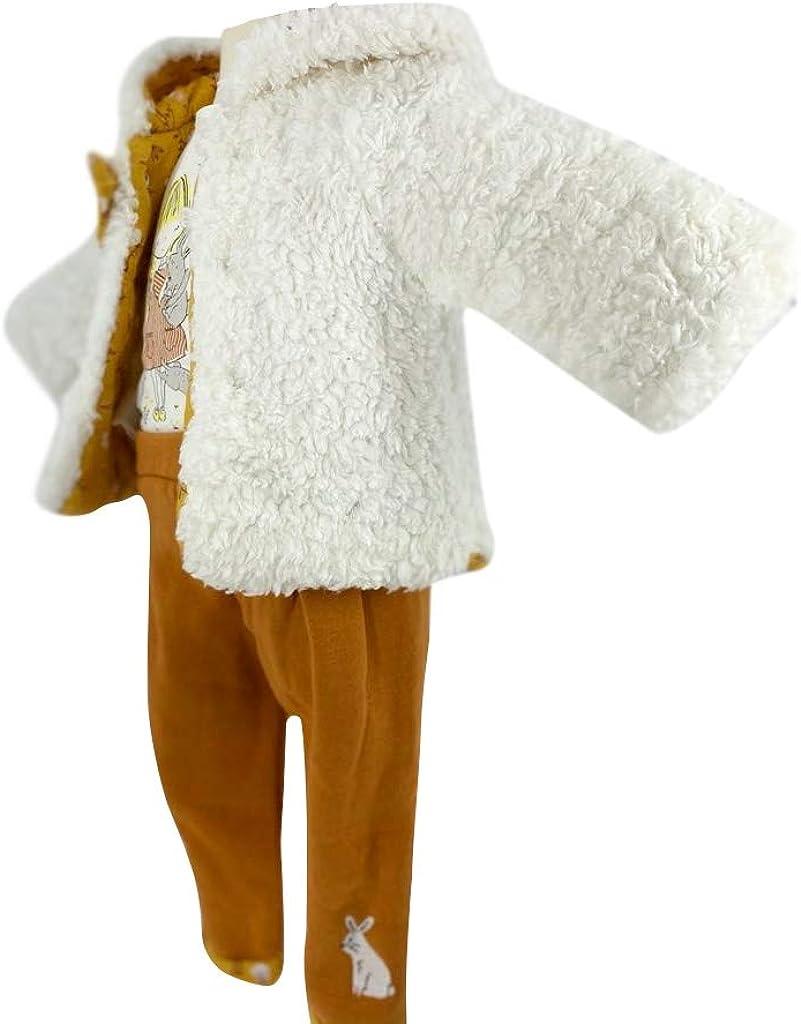 Infant Baby Winter Clothing Set – Long Sleeve Sheepskin Jacket, T shirt and Pants