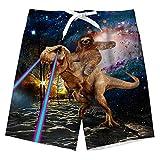 Ragazzi Che nuotano Trunks Dinosauro Hawaii Swim Shorts Pantaloni da Tavolo per la Vacanza in Spiaggia Surf Informale 5-6 Anni