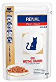 ROYAL CANIN Renal Feline Beef Cat Food, 85 g-12 x 85 g