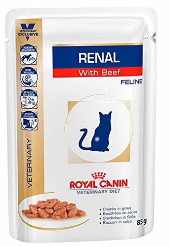 Royal Canin Vet Diet Renal Frischebeutel 12 x 85 g Beef Katze