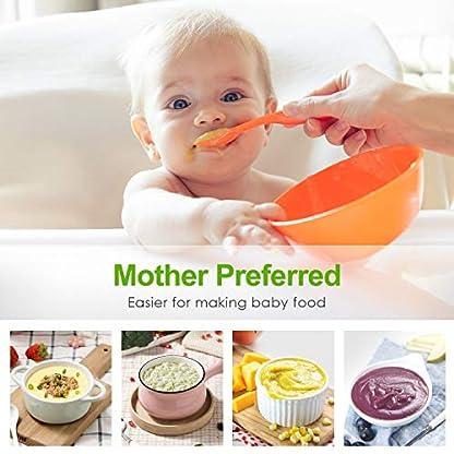 OSTBA-Stabmixer-4-in-1-Elektrische-Puerierstab-mit-700-ml-Messbecher-700-ml-Zerkleinerer-Edelstahl-Schneebesen-8-Gang-Handmixer-mit-Turbofunktion-fuer-Babynahrung-Suppe-BPA-frei-400-W