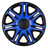 J-Tec J14572 Jeu d'enjoliveurs Nascar 14-inch Noir/Bleu
