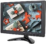 Monitor da 10,1 pollici 1280 x 800 Supporto nativo Monitor CCTV con schermo TFT 1080P con ingresso VGA + HDMI + BNC + AV + USB, altoparlante incorporato per Raspberry, PS4, telecamera CCTV(Nero)