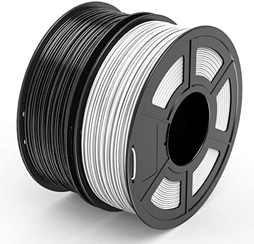 TECBEARS PLA 3D Printer Filament 1 75mm Black White Dimensional Accuracy 0 02 mm 1 Kg Per Spool product image