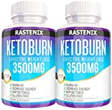 Keto Pills - 3X Potent (2 Pack | 180 Capsules) - Weight Loss Keto Burn Diet Pills - Boost Energy and Metabolism - Exogenous Keto BHB Supplement for Women and Men (2 Pack)