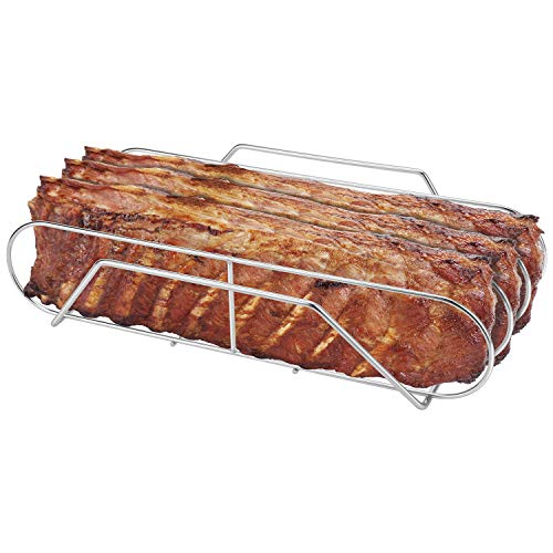"SOLIGT Extra Long 304 Stainless Steel Rib Rack for 18"" or..."
