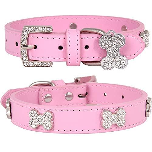 Collar de gato duradero para cachorros de gatito, collar de piel, accesorio para mascotas, longitud ajustable, para perros pequeños y medianos