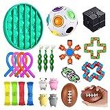 Rongchuang Lot de 24 jouets sensoriels - Pour soulager le stress et lutter contre l'anxiété - Pour enfants et adultes - Pour thérapie relaxante.