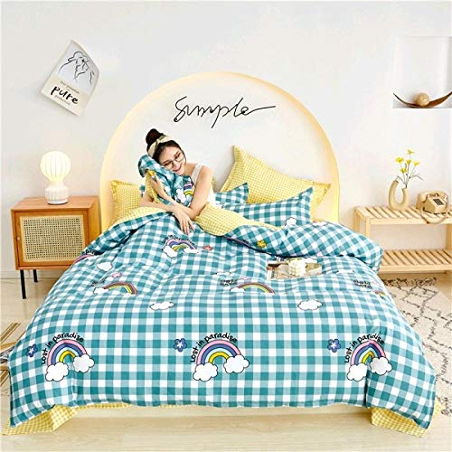 WOGQX Childrens Bedroom Bedding Bed Sets,Duvet cover (with pillowcase) 4 size single double large king bedding set-A035_200 * 230