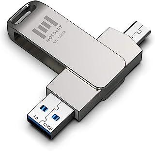 128 GB USBC Durable Flash Drive 2 in 1 OTG USB C to USB A 3.0 Dual Thumb Drive Waterproof 128GB Type c Memory Stick Metal ...