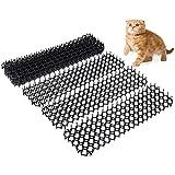 hujio Aoligei Alfombrilla para Excrementos para Gatos con Púas 2,45M o 4,9M, Tamaño de la Combinación Gratuita, Fácil de Instalar para Mantener a Los Gatos Lejos10PCS
