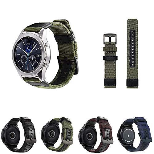 Pulseira Tour em Nylon para Samsung Galaxy Watch 46mm - Samsung Gear S3 Frontier - Gear S3 Classic - Marca Ltimports (Verde Militar)