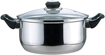 Culinary Edge Dutch Oven with Glass Cover, 5.5-Quart