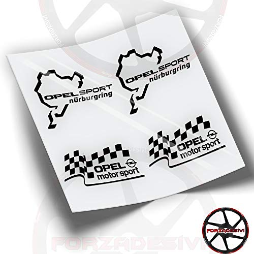 FA35 Pegatinas Opel Sport NÜRBURGRING Stickers ADESIVO AUTOCOLLANTS AUFKLEBER (Negro)