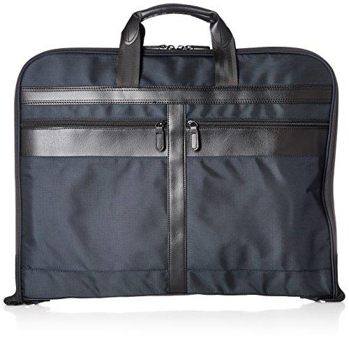 [シフレ] ガーメントバッグ ハンガー付属 キャリーオン可能 2着収納可 小物ポケット搭載 ネイビー