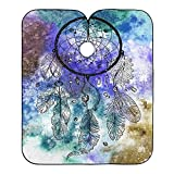 Professional Salon Cape Watercolor Dreamcatcher Painting Hair Stylist Barber Capes Clients Hair Cutting Cape Waterproof Haircut Hairdresser Hairdressing Apron Shawl For Men Adult Women