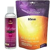 XXL oferta especial - Amor Vibratissimo® 'MiTalla 60mm + 250ml PlayGel med' 50 pack preservativos, condones para una sensación auténtica