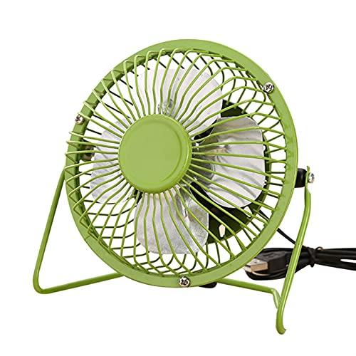 JIEPPTO USB Portátil Mini Ventilador, Ultra-Tranquilo, Ligero Y Pequeño, Rotación De 360 Grados Arriba Y Abajo Wind, PC Notebook Computer Cooler (Kolor : Green)