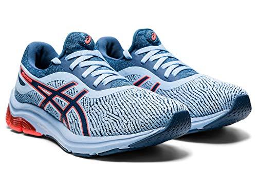 ASICS Zapatillas de correr Gel-Pulse 12 Monosock para mujer, azul (Gran tiburón/Gran tiburón), 37 EU