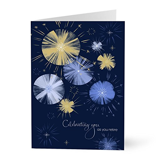 Hallmark Business Retirement Cards for Customers or Employees (Retirement Fireworks) (Pack of 25 Greeting Cards)