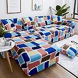 Cubierta de sofá de Esquina de Color sólido para Sala de Estar, Cubierta reclinable elástica, Cubierta de sofá, Toalla elástica para sofá, L Tipo A10, 1 Plaza