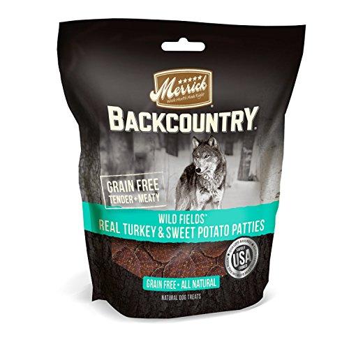 Merrick Backcountry Grain Free All Natural Dog Treats Wild Prarie Real Turkey