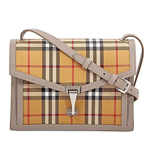 A compact Italian-made bag in our Vintage check and soft grainy leather. Remove the crossbody strap to carry it as a clutch. 24 x 7 x 18cm/9.4 x 2.8 x 7.1in Min. shoulder strap length: 115cm/45.3in Max. shoulder strap length: 130cm/51.2in Outer: 100%...
