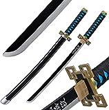Aishengjia Demon Killer Sword Weapon Muichirou Cosplay Role Playing Samurai Sword Ninja Katana Model Bamboo Sheathed Japanese Budo-Style Children's Toy Gift