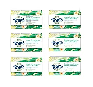 WHAT YOU'LL GET: Contains six 5-ounce bars of Tom's of Maine Natural Beauty Bar in Fresh Eucalyptus Scent WASH AWAY GERMS: Cleaning your hands with natural bar soap helps wash away unwanted germs and bacteria GENTLE ON SKIN: Tested by dermatologists ...