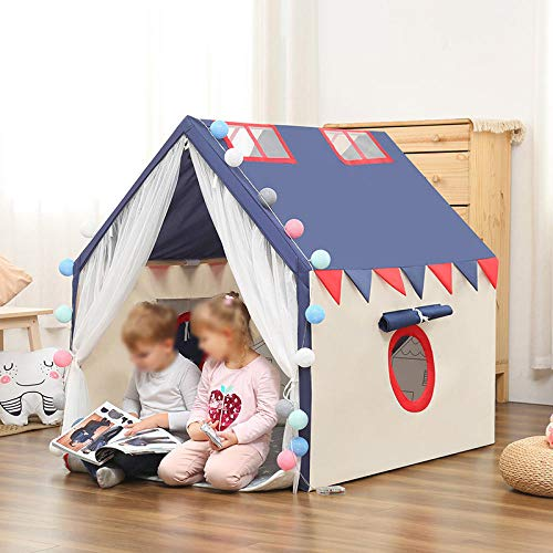 Topashe Large Kids Play House Play Tent,Indoor creative tent, children's play house-Navy,Indoor and Outdoor Teepee Tent for Kids