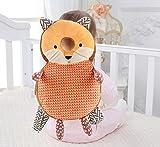 Aufee Mochila Protectora para la Cabeza de los niños pequeños, Almohada para la Cabeza del bebé en Forma de Animal, Ayuda al bebé a Caminar o arrastrarse Bebé de(Orange Fox)