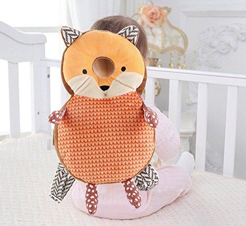 WNSC Almohada Protectora para bebés, Transpirable Buena resiliencia Cojín Protector súper Suave para bebés, cómodo para Caminar y Aprender a Caminar(Orange Fox)