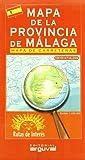 Mapa de La Provincia de Málaga (MAPAS DE CARRETERAS)
