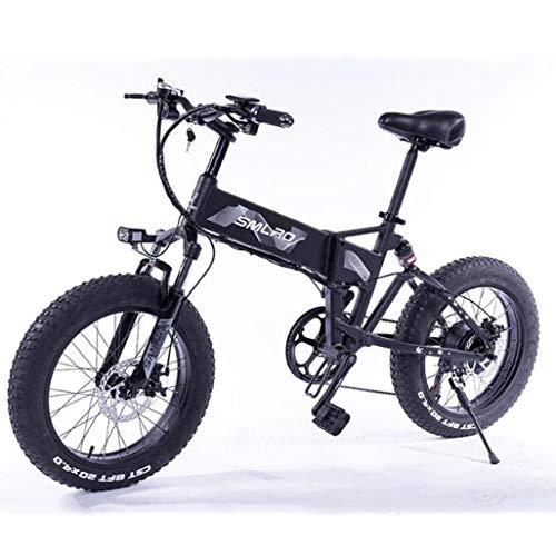 Gaoyanhang Plegable Bicicleta eléctrica 500W Motor de 48V 8Ah extraíble de Iones de Litio de 20 Pulgadas Ebike Fat Tire Bicicleta eléctrica